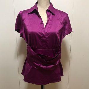 Ann Taylor Purple Top Size 10